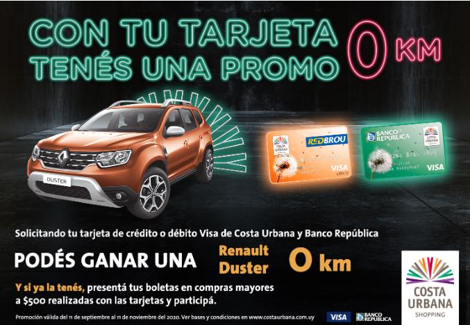 Shopping Costa Urbana sortea camioneta para clientes de tarjetas emitidas junto al BROU